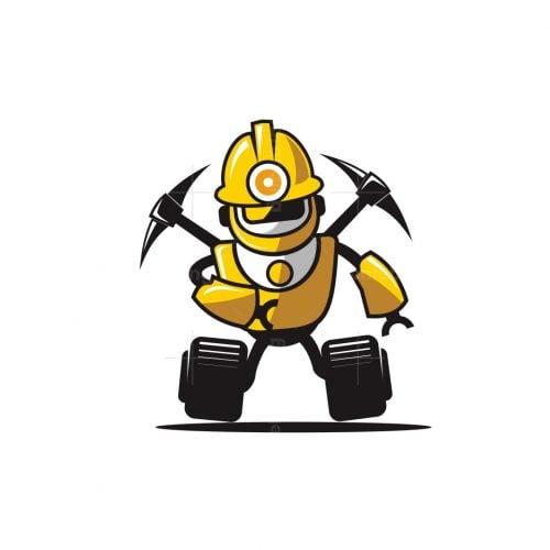 Mining Robot Logo