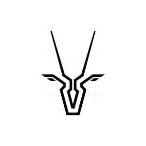 Modern Oryx Head Logo