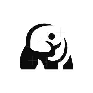 Negative Space Elephant Logo