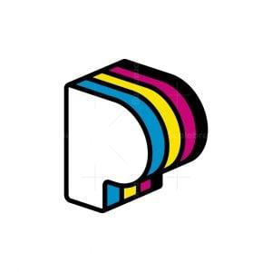 Print Shop Letter P Logo
