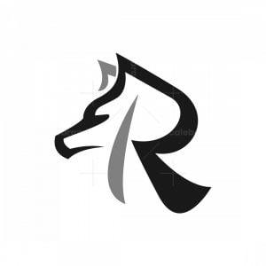 Letter R Wolf Logo