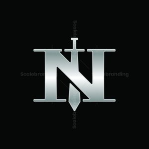 Metal Sword Letter N Logo