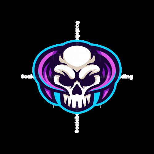 Skull Horn Esport Mascot Logo