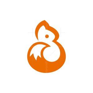 Smart Squirrel Letter B Logo