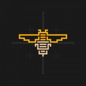 Stylish Bee Logo