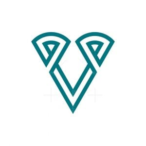 Trendy Letter V Logo