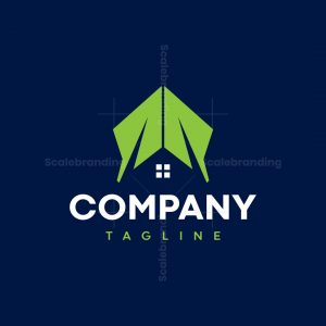 Two Leaves Roof House Logo