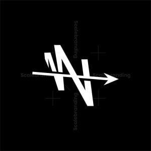 W Letter Arrow Logo