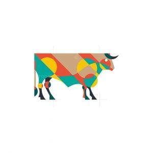 Geometric Bull Logo