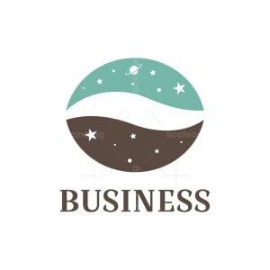 Cafe Space Coffee Bean Logo