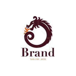 Round Chinese Dragon Logo