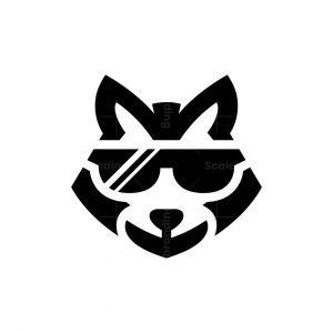Sunglasses Raccoon Head Logo Cool Raccoon Logo