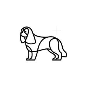Line Art Dog Logo