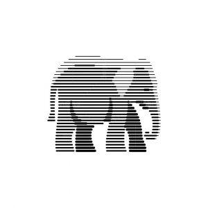 Line Art Elephant Logo