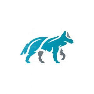 Wolf Logo Alpha Walking Wolf Logo