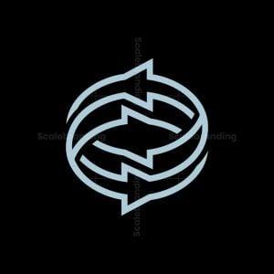 Looped Letter N Logo