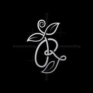 Flower Letter R Logo