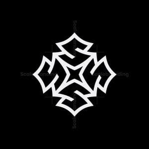 Letter S Star Cube Logo