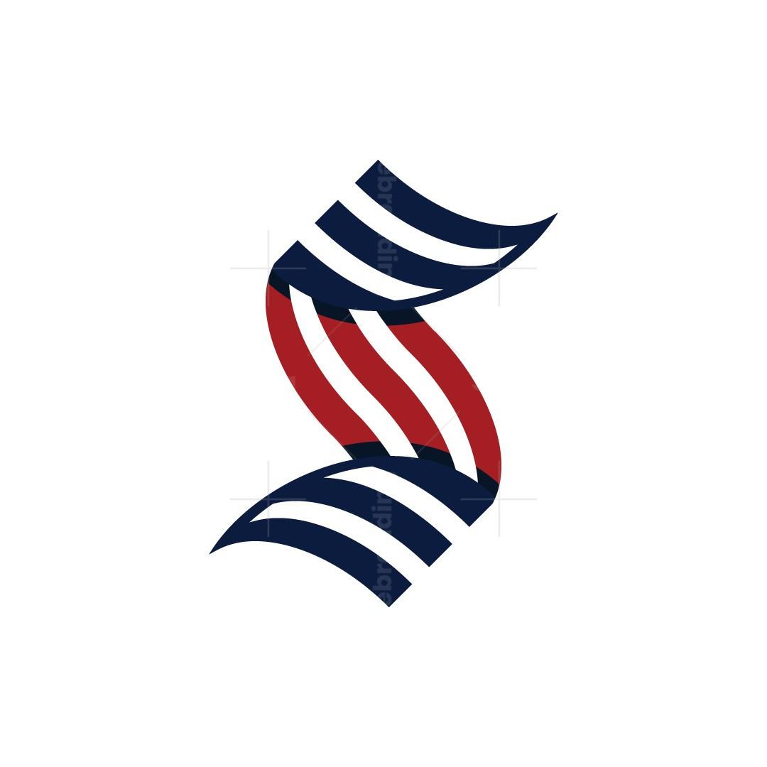 Letter S Usa Flag Logo