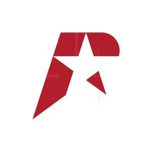 Letter R Star Logo
