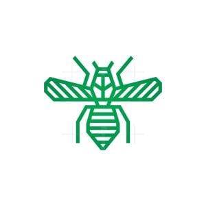 Flying Green Bee Logo