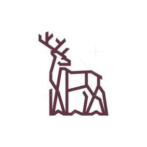 Lines Deer Logo Buck Logo
