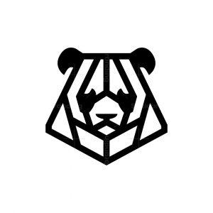 Panda Logo Line Panda Head Logo