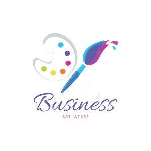 Paintbrush Art Store Logo