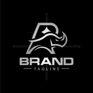 Letter R Rhino Logo