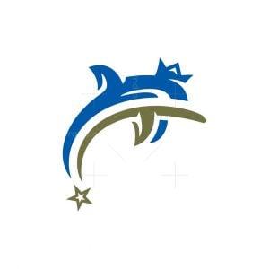 Crown Dolphin Logo Royal Dolphin Logo