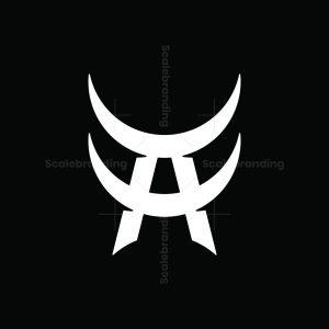 Skull Letter A Logo
