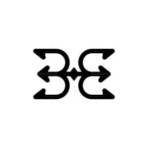 Trident Letter Be Logo