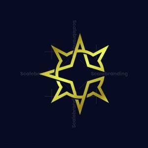 Letter C Star Luxury Logo