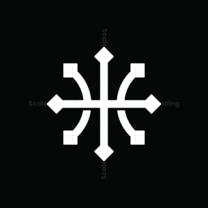 Letter H Compass Logo