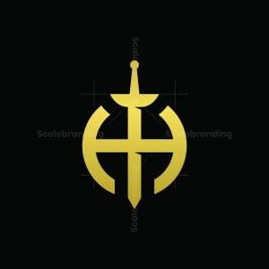 Sword H Letter Logo