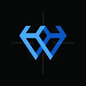 Diamond Hw Letter Logo