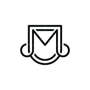 Letter M Music Shiled Logo