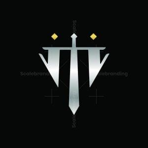 Sword Letter M Logo