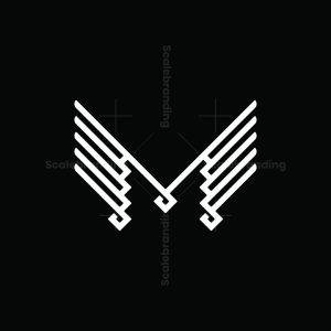 Winged M Letter Logo