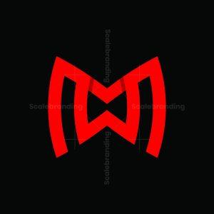 Letter Mw Sporty Logo