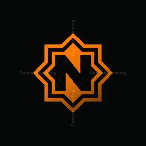 Letter N Star Logo
