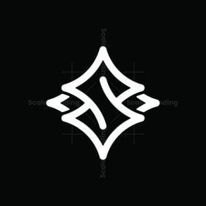 Stylish Star S Letter Logo