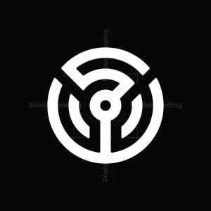 Letter Sw Steering Wheel Logo