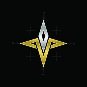 Diamond Star T Letter Logo