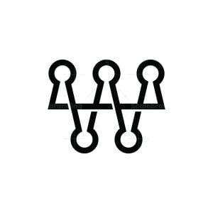 Letter Wa Crown Secret Logo