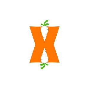 The Letter X Carrot Logo