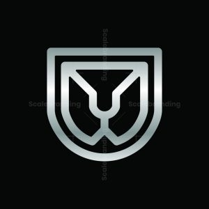 Lion Shield Metallic Logo