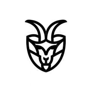 Security Goat Logo Shield Ram Logo