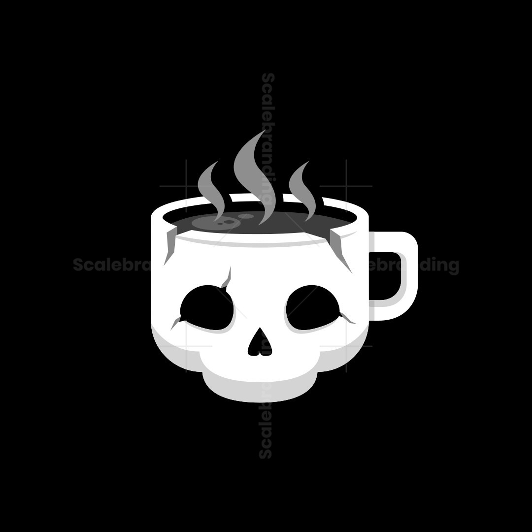 Skull Coffee Cup Logo