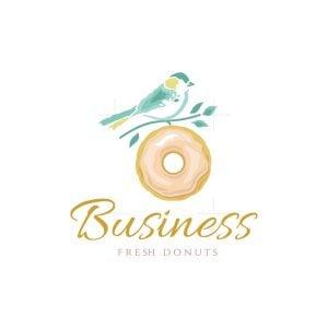 Sparrow Bird Fresh Donuts Logo